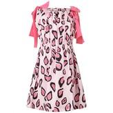 MSGM MSGMGirls Pink Leopard Print Dress