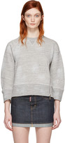 DSQUARED2 Grey Cropped Zip Pullover