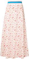 Miharayasuhiro floral maxi track skirt