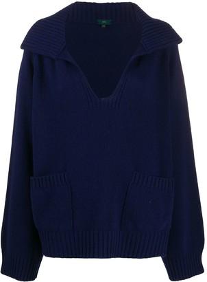 Jejia Open-Collar Sweater