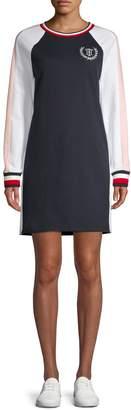Tommy Hilfiger Long-Sleeve Crew Neck Sweater Dress
