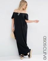 Asos Boho Off Shoulder Maxi Dress