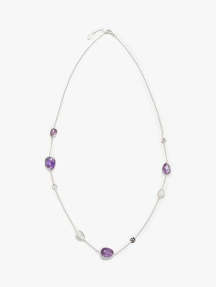 John Lewis & Partners Gemstones Half Stones Long Chain Necklace