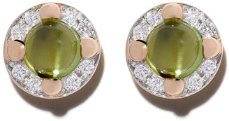 Pomellato 18kt rose gold M'ama non m'ama peridot and diamond earrings