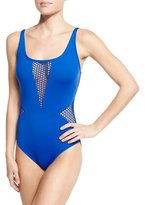 LaBlanca La Blanca All Meshed Up One-Piece Swimsuit, Plus Size