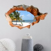 Bopm diy Home Decoration Art Mural Paper?Beach-dong 3D bedroom living room TV sofa background HD Self-adhesive attach to the wall