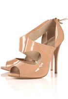 GRACEY Nude Asymmetric Peep Toe Shoes