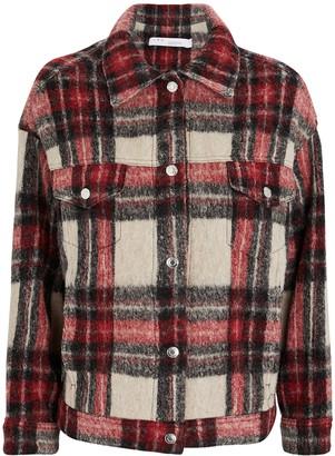IRO Bamba Plaid Flannel Wool-Blend Jacket