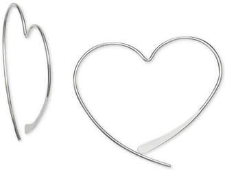 Giani Bernini Wire Heart Threader Earrings in Sterling Silver