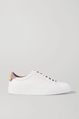 Givenchy Urban Street Logo-print Leather Sneakers - White