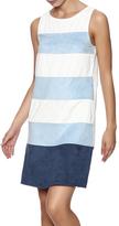 Freeway Faux Suede Striped Dress