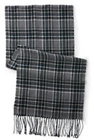 Classic Men's CashTouch Plaid Scarf Navy