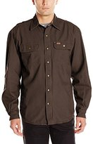 Carhartt Men's Weathered Canvas Snap Front Shirt Jacket