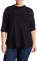 Bobeau Mock Neck A-Line Sweater (Plus Size)