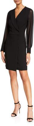 Nanette Lepore Nanette Long-Sleeve Double-Breasted Blazer Dress