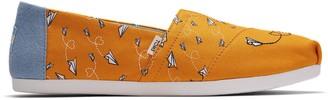 Toms Yellow Paper Planes Print Women's Classics
