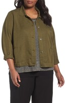 Eileen Fisher Plus Size Women's Classic Collar Jacket