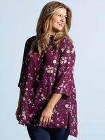 M&Co Plus Floral print longline shirt
