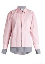 Vetements X Comme des Garçons double-layer striped shirt