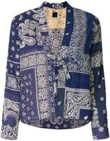Visvim bandana print tie front blouse