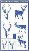 N. Armour Etch 20-0461 Stencil Rub Etch Stencil, Bucks, 5-Inch by 8-Inch