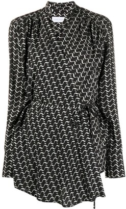 Christian Wijnants Triveni wave-print wrap top