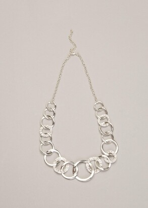 Phase Eight Cherie Circle Sparkle Necklace
