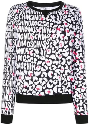 Moschino leopard logo print T-shirt