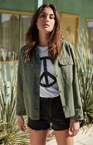La Hearts Peace Sign Crew Neck T-Shirt