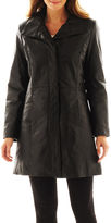 JCPenney Excelled Leather Pencil Coat