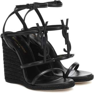 Saint Laurent Cassandra 115 wedge sandals