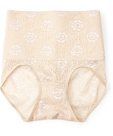 Joan Vass Nude Lace Belly-Band Control Briefs - Plus Too