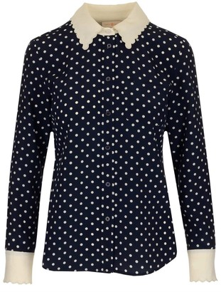 Tory Burch Polka Dot Shirt