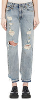 R 13 Women's Bowie Distressed Straight Crop Jeans