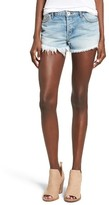 Band of Gypsies Women's Studded Rose Raw Hem Denim Shorts
