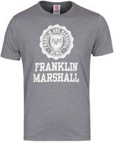 Franklin & Marshall Grey Marl Stamp Crew Neck T-shirt