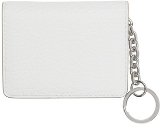 Maison Margiela White Bifold Keychain Card Holder