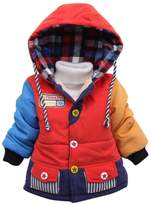 Happy Cherry Toddler Kids Boys Winter Warm Coat Hoodie Outerwear Jacket