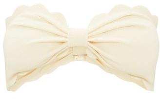 Marysia Swim Antibes Scallop-edged Bandeau Bikini Top - Womens - Cream