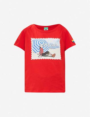 Benetton x Popeye printed cotton-jersey T-shirt