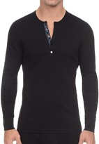 2xist Tartan Tech Long Sleeve Henley Tee