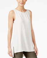 Eileen Fisher Silk High-Low Shell
