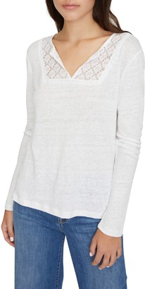 Sanctuary Lora Crochet Lace Neck T-Shirt