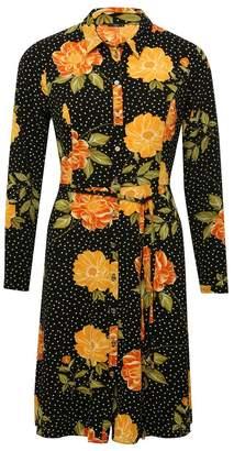 M&Co Floral print shirt dress