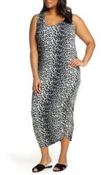 Loveappella Ruched Midi Tank Dress