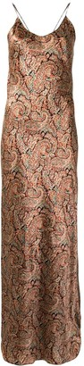 Nili Lotan Paisley-Print Silk Dress