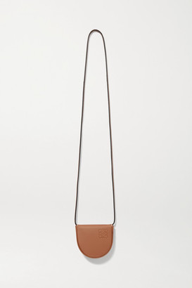 Loewe Heel Mini Leather Pouch - Tan