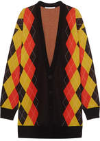 Stella McCartney Oversized Argyle Wool Cardigan - Charcoal