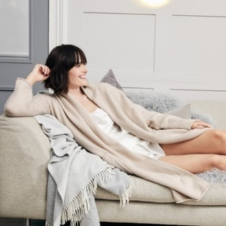 The White Company Cosy Long Cardigan, Biscuit, Extra Small