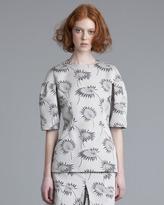 Marni Floral-Print Satin Top